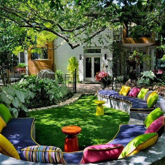 ركن جلوس 3 ديكورات خيالية لحدائق المنازل