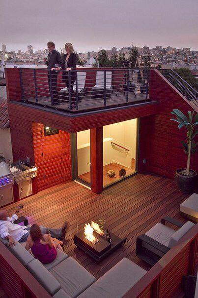 رووف 12 أفكار تصاميم جلسات على أسطح المنازل