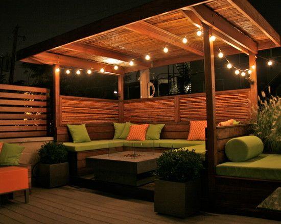 رووف 15 أفكار تصاميم جلسات على أسطح المنازل