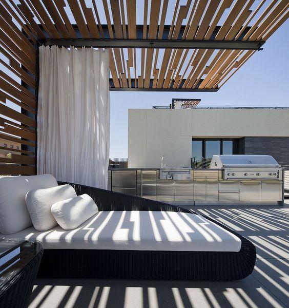 رووف 3 أفكار تصاميم جلسات على أسطح المنازل