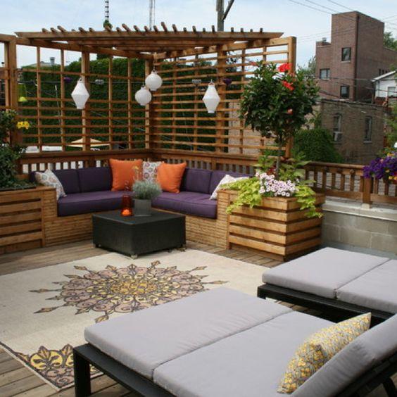 رووف 7 أفكار تصاميم جلسات على أسطح المنازل