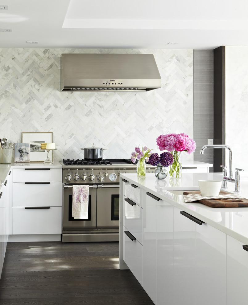 زهور في المطبخ 1 أضيفي الحيوية الى تصميم المطبخ بطرق مبتكرة