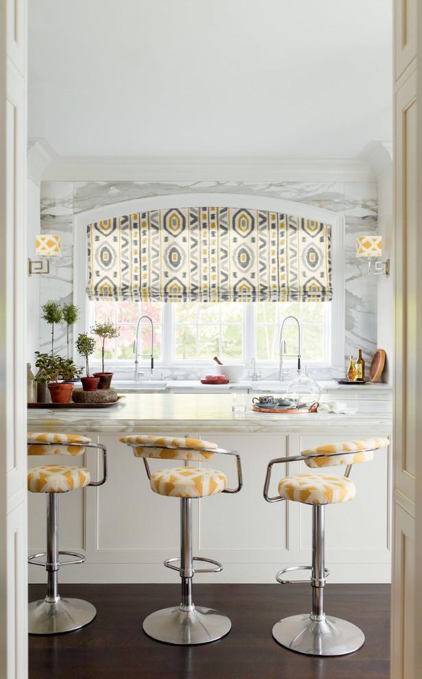 ستائر مطبخ ملونة 1 أضيفي الحيوية الى تصميم المطبخ بطرق مبتكرة