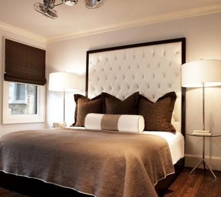 سرير بظهر عالي مبطن 2