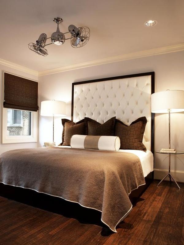 سرير بظهر عالي مبطن 2 السرير ذو الظهر العالي: لمسة أناقة وفخامة في غرفة النوم