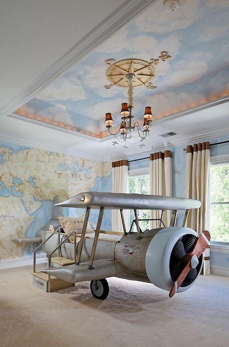 سرير على شكل طائرة