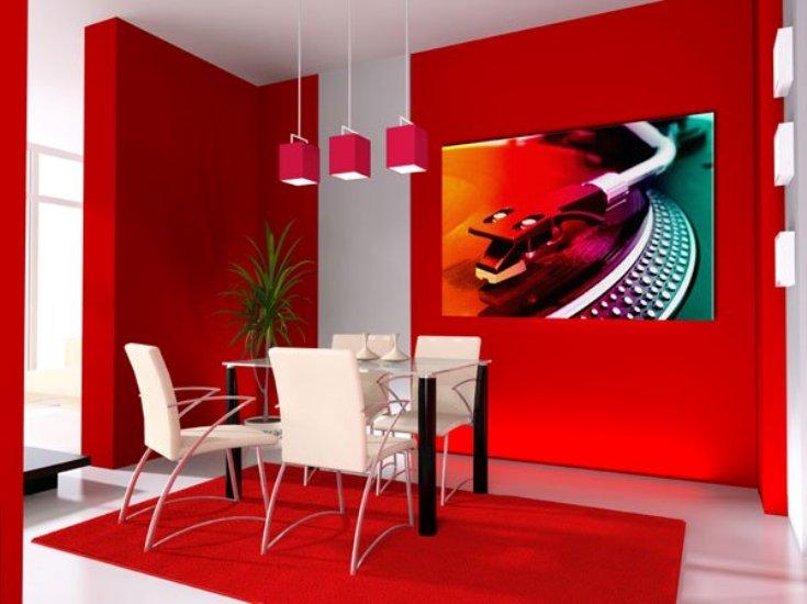 غرفة سفرة حمراء