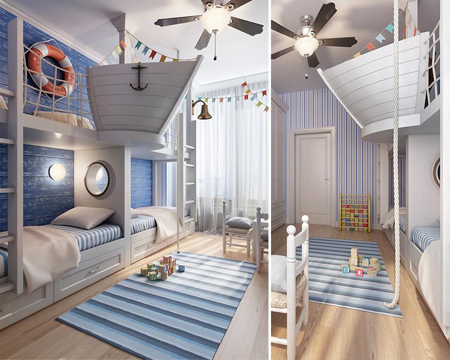 غرفة أطفال بديكور مميز 8 غرف نوم أطفال متميزة جدًا بديكورات مستوحاة من اهتماماتهم