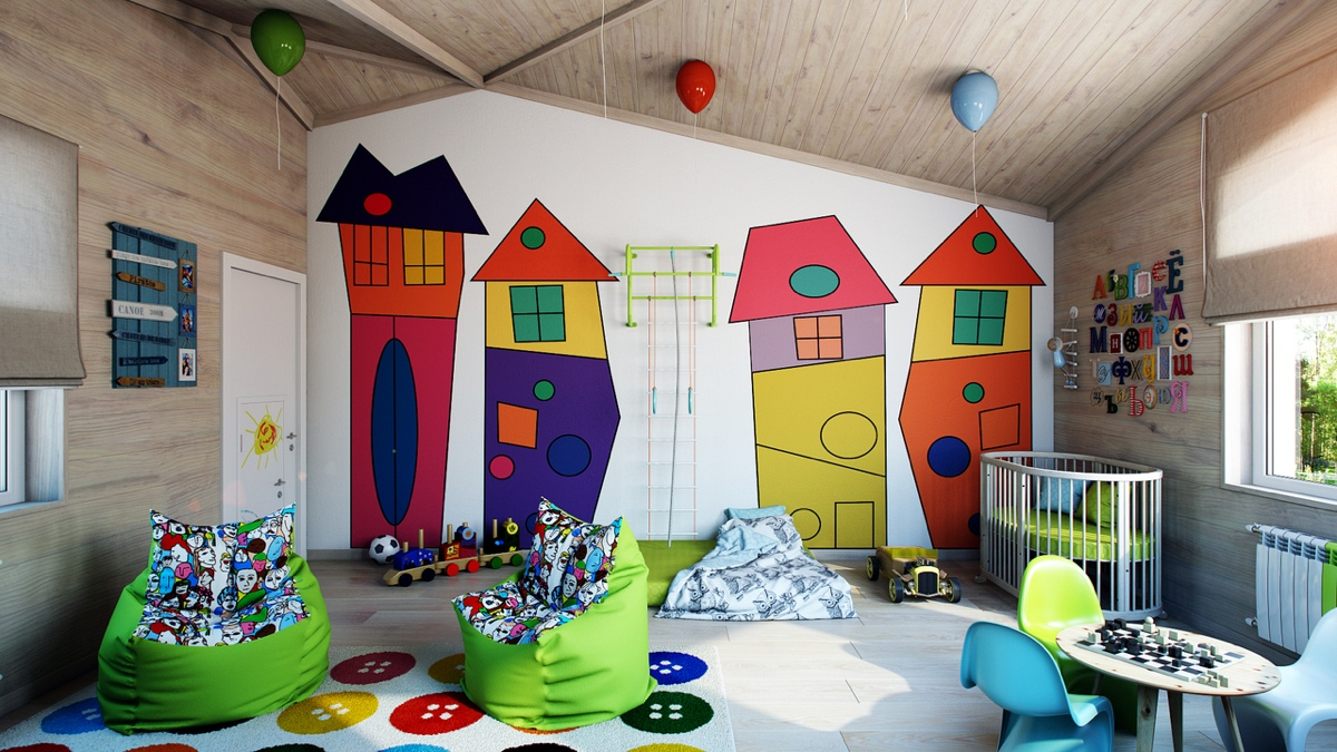 غرفة أطفال 3 غرف أطفال رائعة بلمسات فنية مبهجة