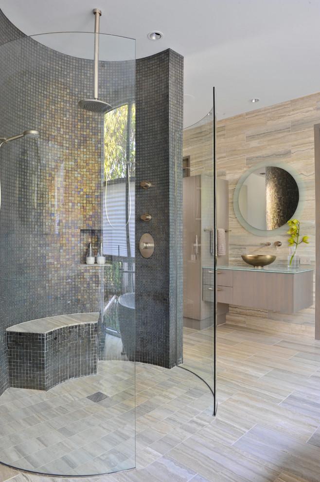 غرفة استحمام موزاييك الموزاييك.. فخامة وروعة في حمامك