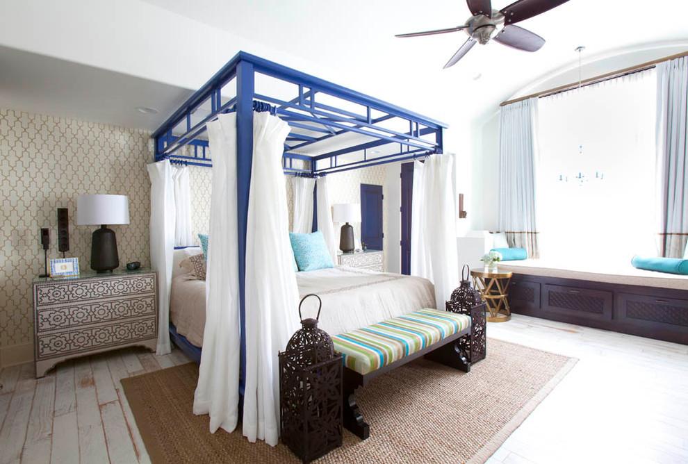 غرفة النوم الرئيسية سحر الشرق وحداثة المودرن في منزل واحد
