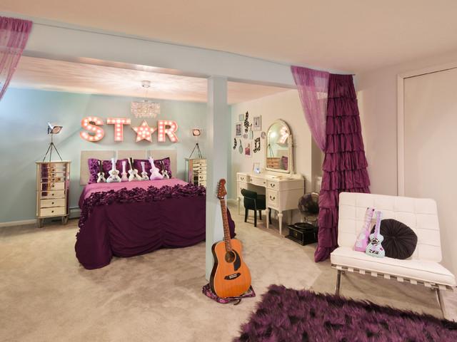 غرفة باللون البنفسجي استوحي ديكور منزلك من منزل النجمة تايلور سويفت (Taylor Swift)