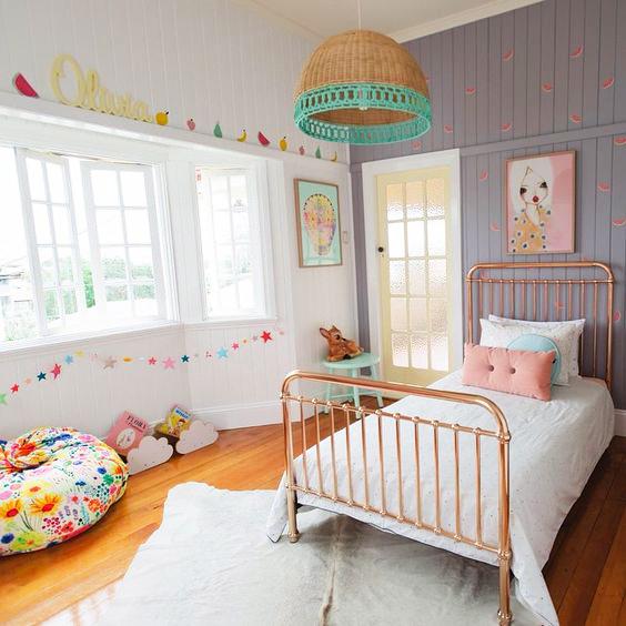 غرفة بناتي غرف نوم مميزة جداً لأميرتك الصغيرة