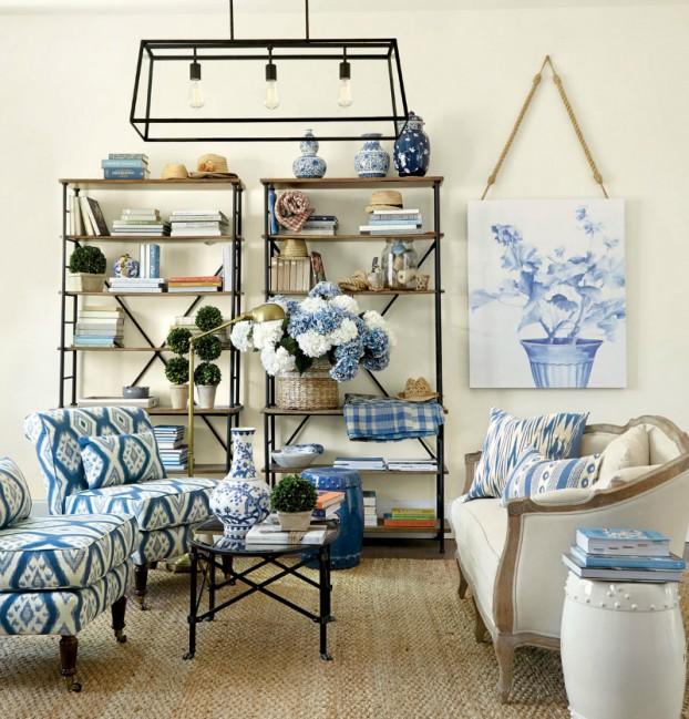غرفة جلوس زرقاء 1 15 غرفة جلوس رائعة لمحبي اللون الأزرق
