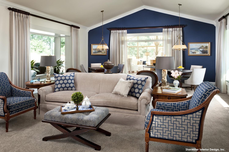 غرفة جلوس زرقاء 11 1500x1000 15 غرفة جلوس رائعة لمحبي اللون الأزرق