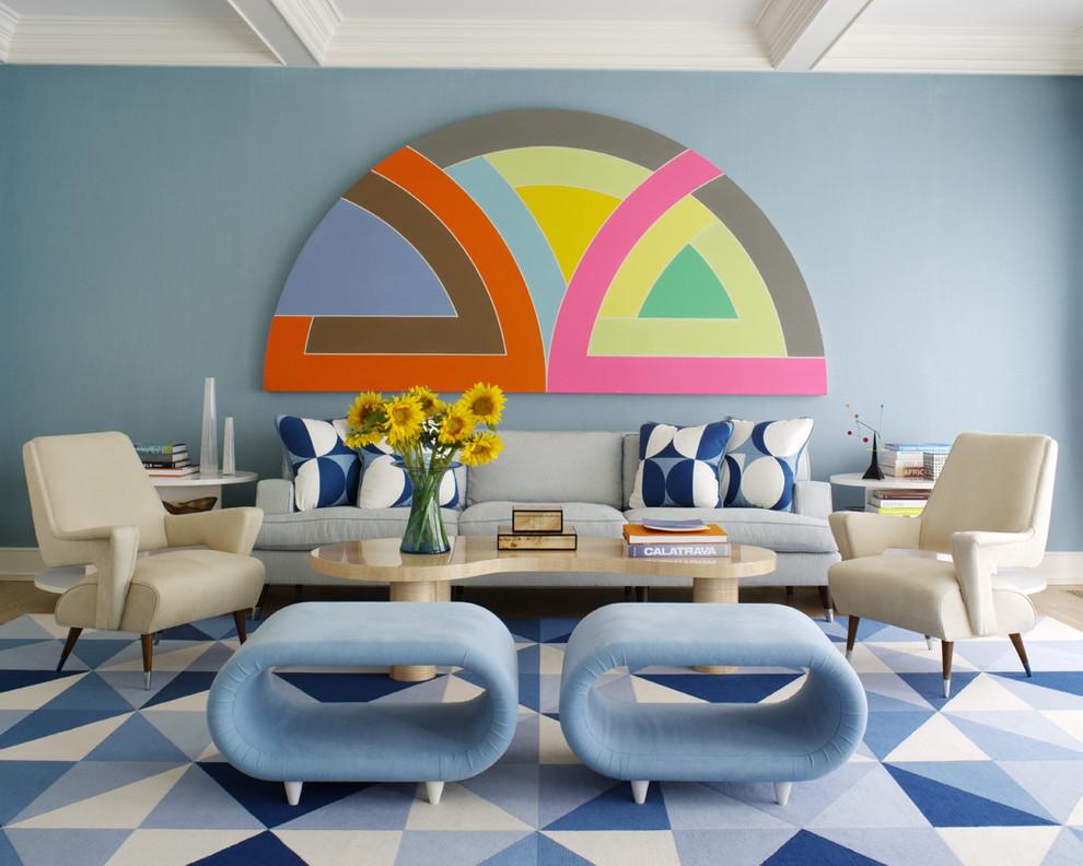 غرفة جلوس زرقاء 15 غرفة جلوس زرقاء 15