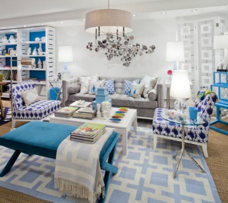 غرفة جلوس زرقاء 3