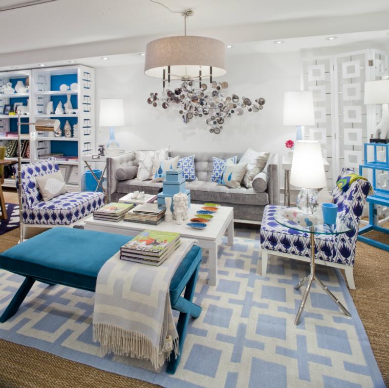 غرفة جلوس زرقاء 3 15 غرفة جلوس رائعة لمحبي اللون الأزرق