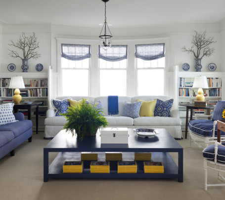 غرفة جلوس زرقاء 4
