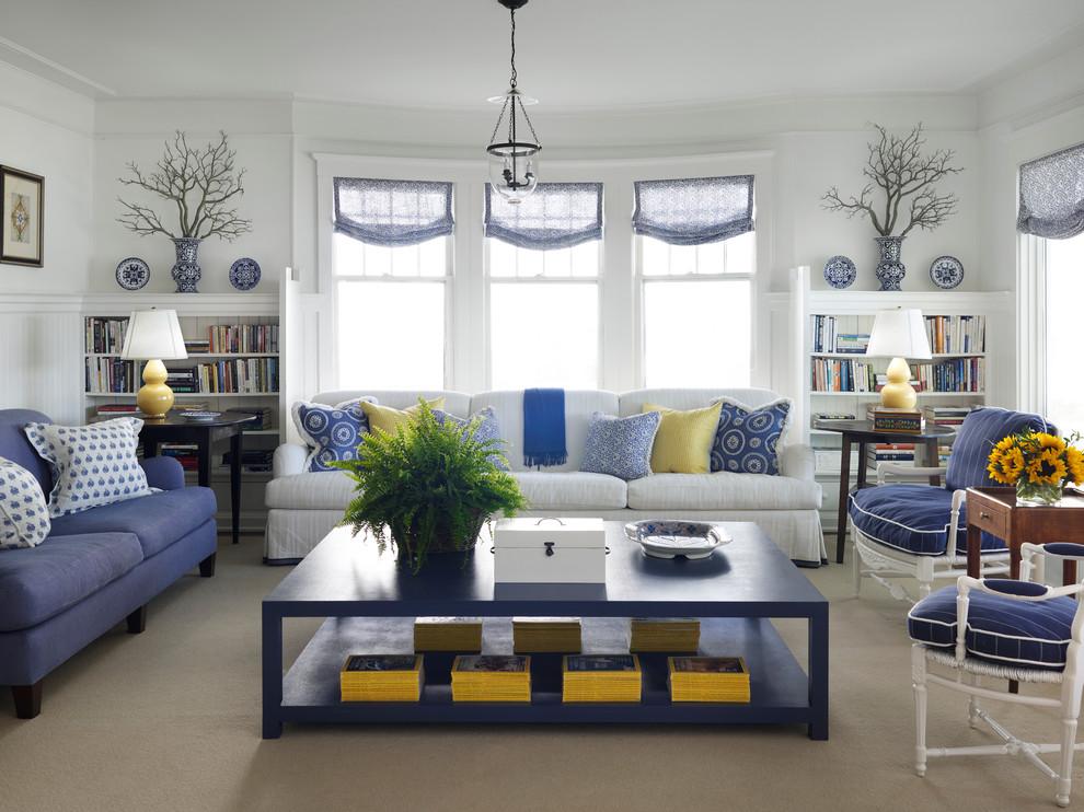 غرفة جلوس زرقاء 4 15 غرفة جلوس رائعة لمحبي اللون الأزرق