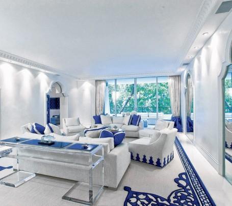 غرفة جلوس زرقاء 5