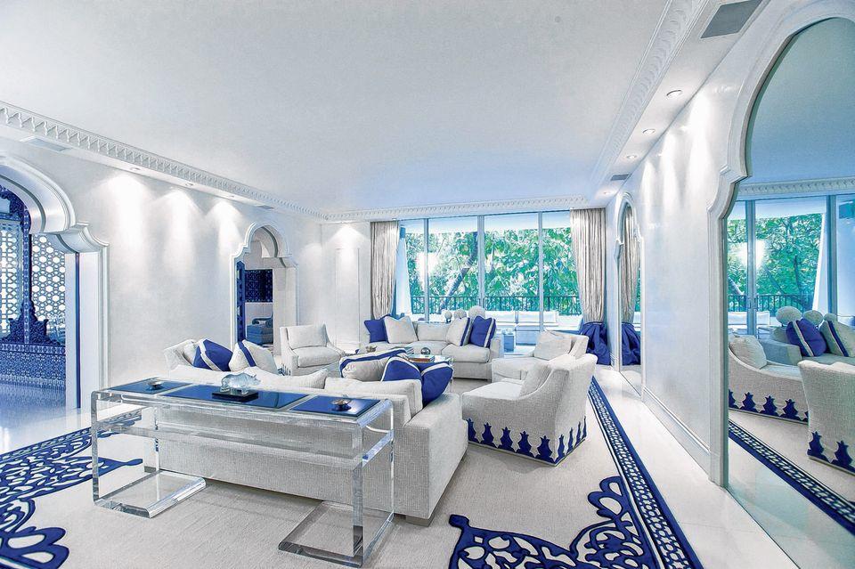 غرفة جلوس زرقاء 5 15 غرفة جلوس رائعة لمحبي اللون الأزرق