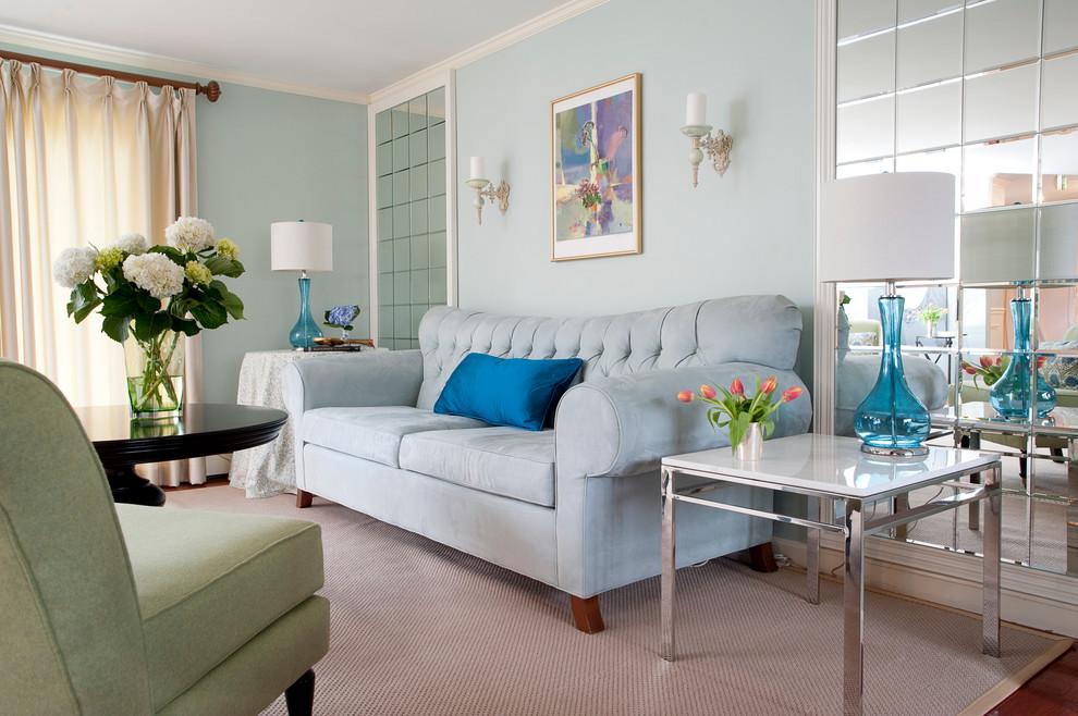غرفة جلوس زرقاء 8ا 15 غرفة جلوس رائعة لمحبي اللون الأزرق