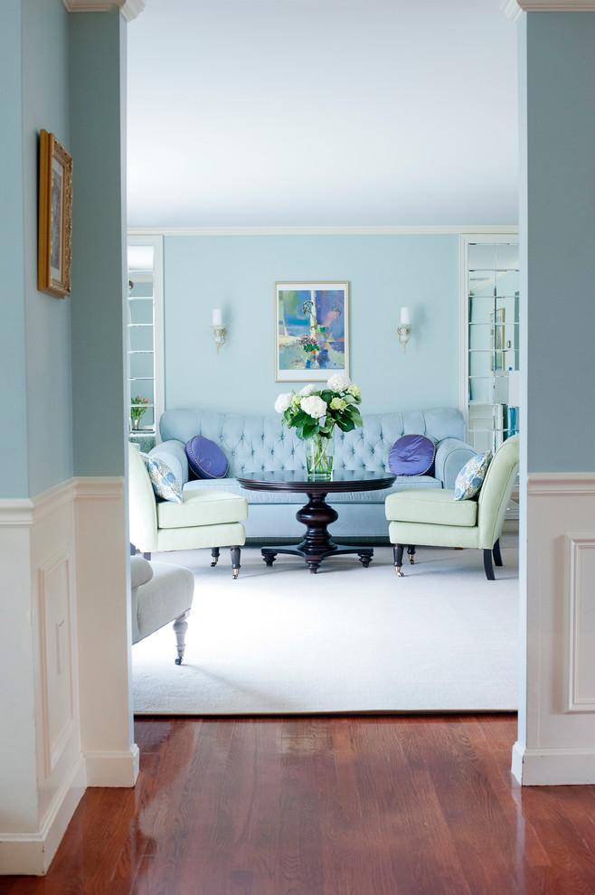 غرفة جلوس زرقاء 8 15 غرفة جلوس رائعة لمحبي اللون الأزرق