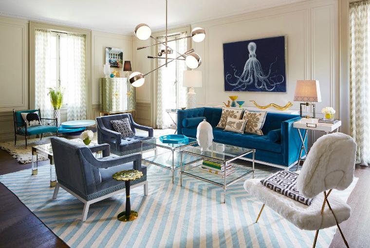 غرفة جلوس زرقاء 9 15 غرفة جلوس رائعة لمحبي اللون الأزرق