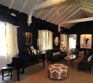 غرفة جلوس سوداء