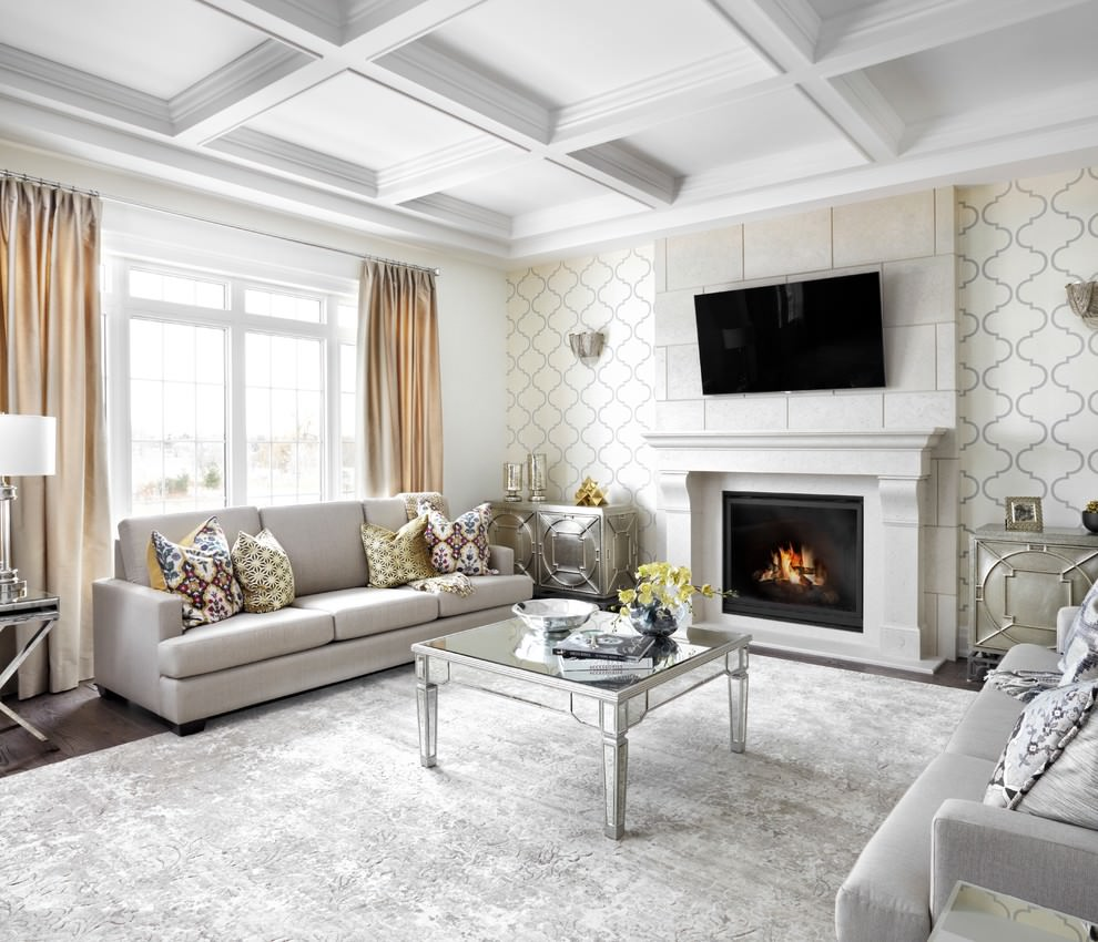 غرفة جلوس كلاسيك أنيقة ا الديكورات الكلاسيكية بمظهر عصري في منزل أنيق وراقي