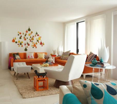 غرفة جلوس مشرقة الألوان 1