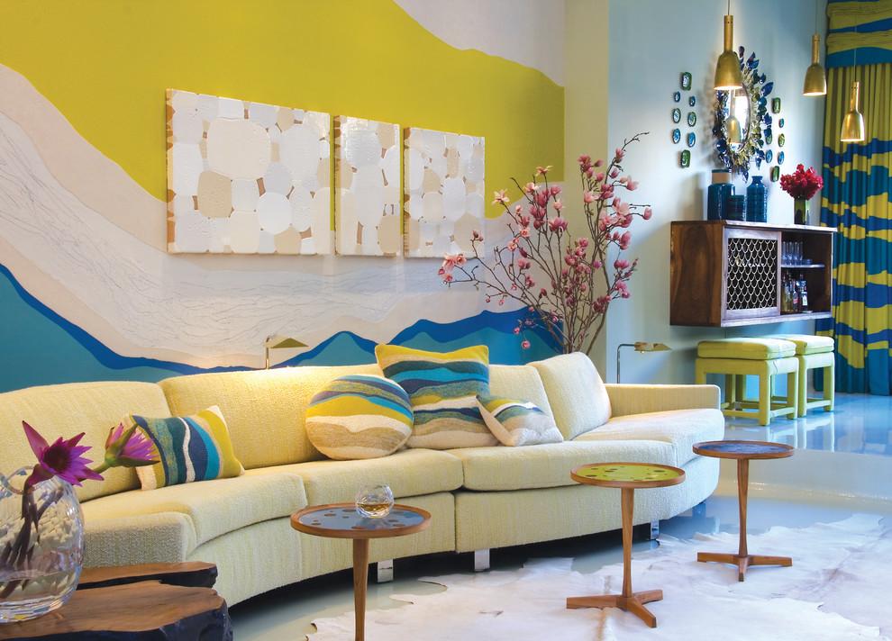 غرفة جلوس مشرقة الألوان 11 8 نصائح لإستخدام الألوان المشرقة في غرفة الجلوس