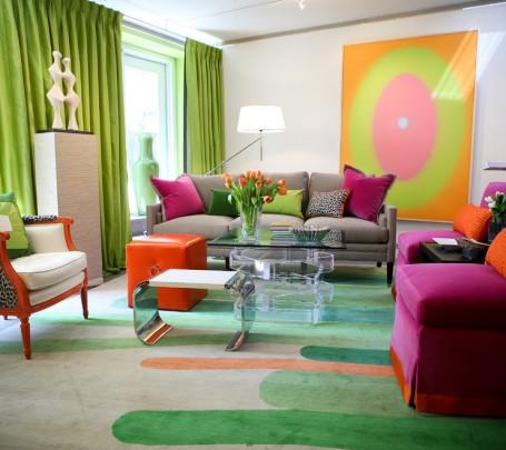 غرفة جلوس مشرقة الألوان 2