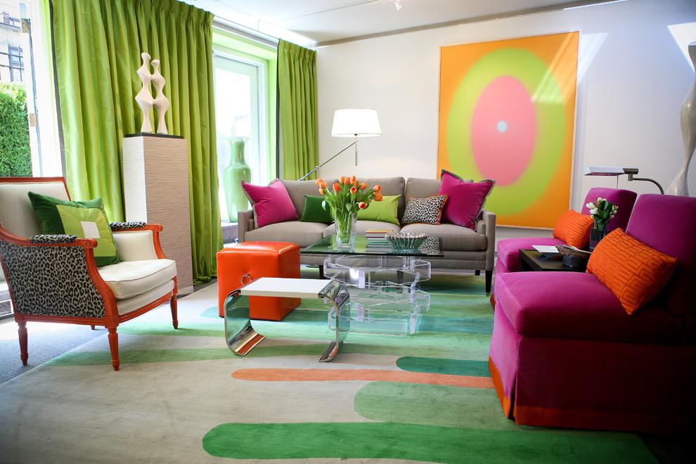 غرفة جلوس مشرقة الألوان 2 8 نصائح لإستخدام الألوان المشرقة في غرفة الجلوس