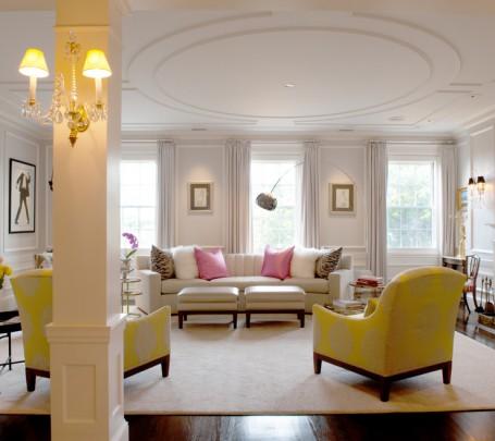 8 نصائح لإستخدام الألوان المشرقة في غرفة الجلوس
