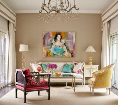 غرفة جلوس مشرقة الألوان 5