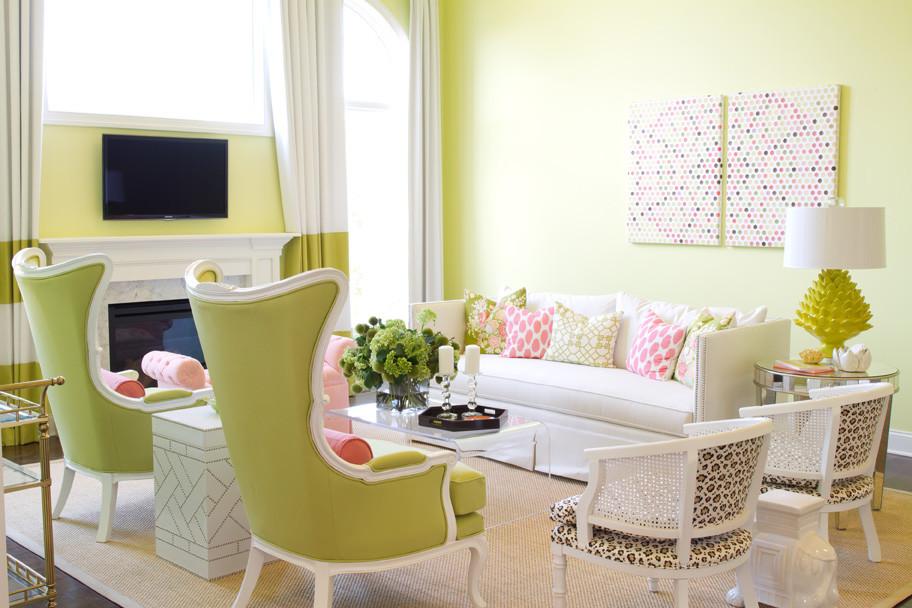 غرفة جلوس مشرقة الألوان 6 غرفة جلوس مشرقة الألوان 6