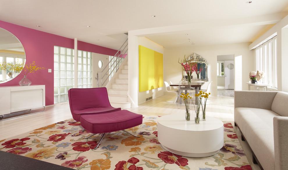 غرفة جلوس مشرقة الألوان 9 8 نصائح لإستخدام الألوان المشرقة في غرفة الجلوس