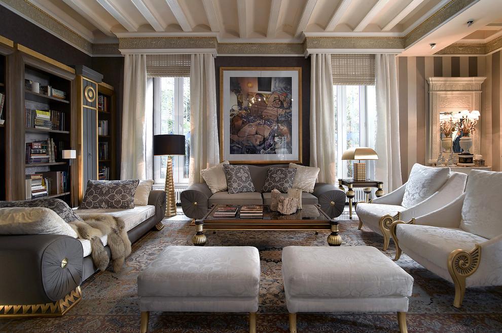 غرفة جلوس ملكية 10 تصاميم غرف جلوس مبهرة تليق بالقصور الملكية