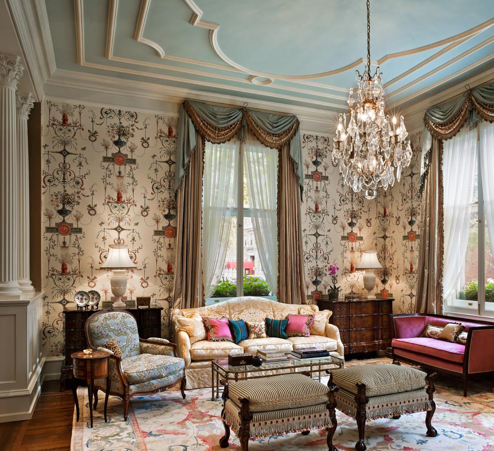 غرفة جلوس ملكية 13 تصاميم غرف جلوس مبهرة تليق بالقصور الملكية