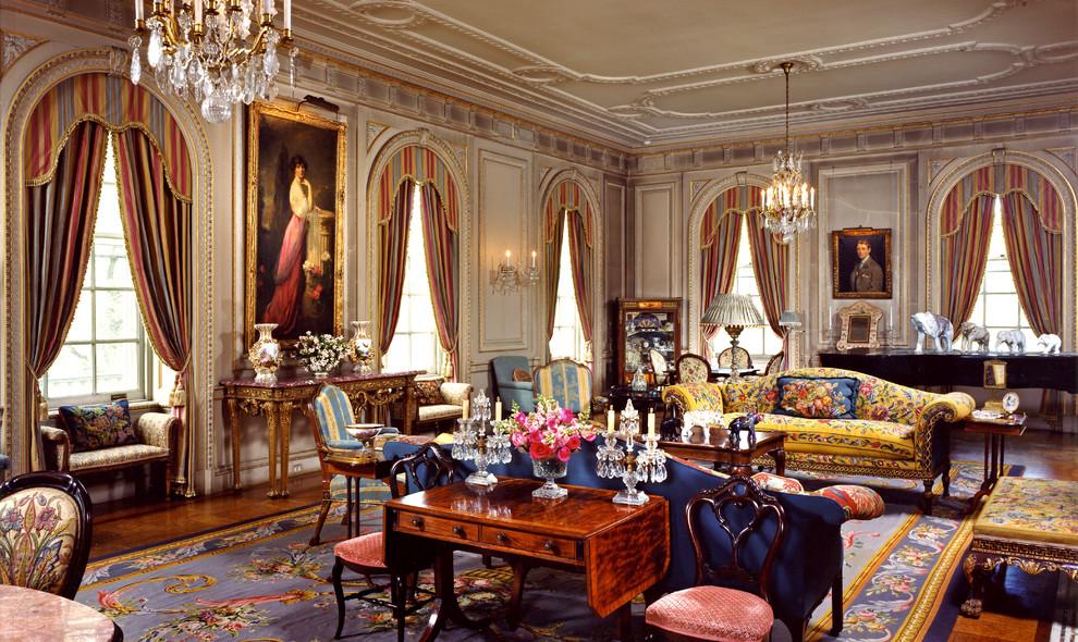 غرفة جلوس ملكية 14 تصاميم غرف جلوس مبهرة تليق بالقصور الملكية