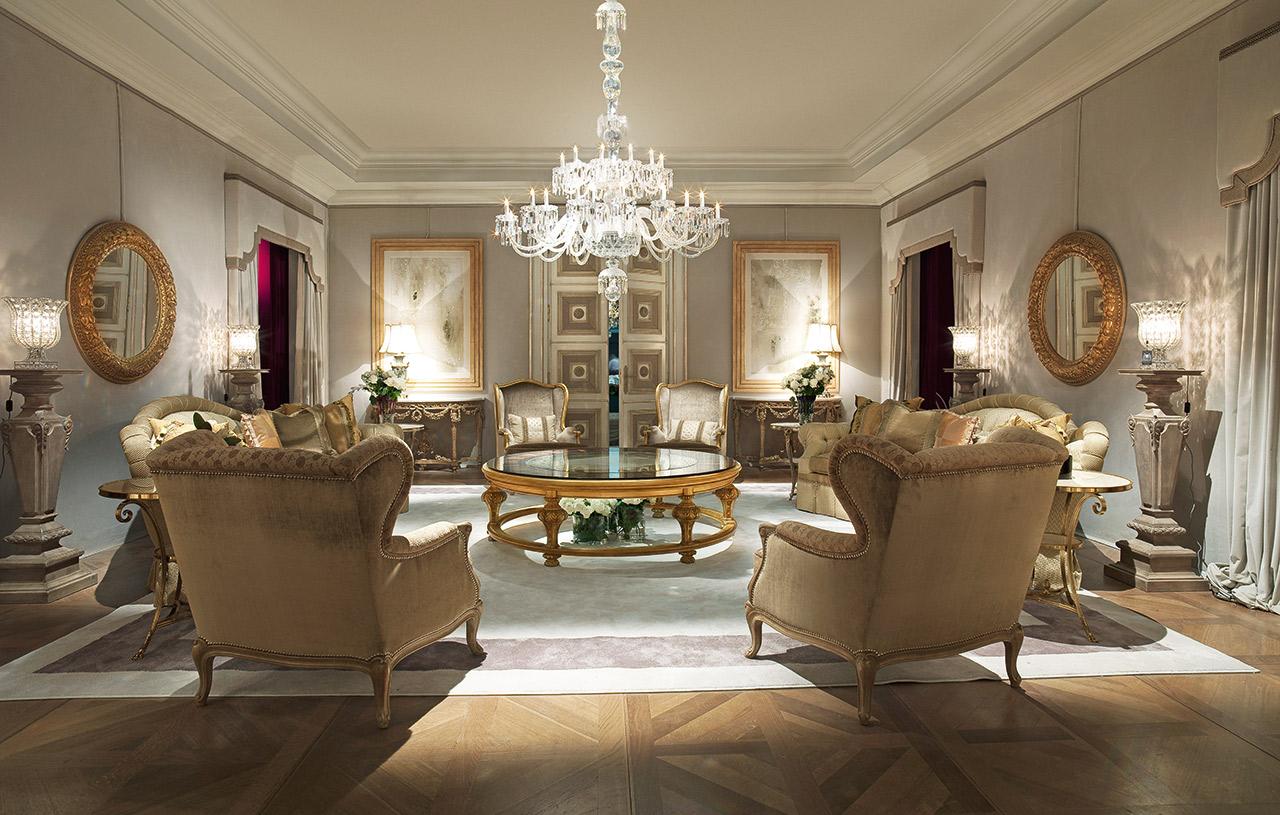 غرفة جلوس ملكية 2 تصاميم غرف جلوس مبهرة تليق بالقصور الملكية