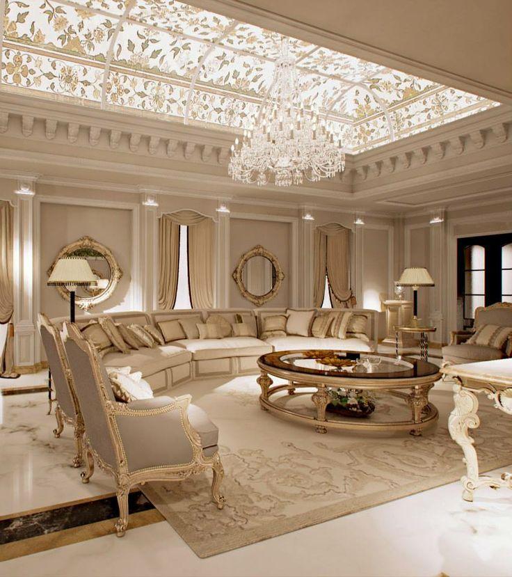 غرفة جلوس ملكية 4 تصاميم غرف جلوس مبهرة تليق بالقصور الملكية