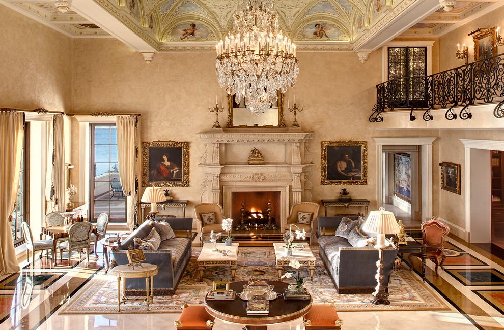 غرفة جلوس ملكية 6 تصاميم غرف جلوس مبهرة تليق بالقصور الملكية
