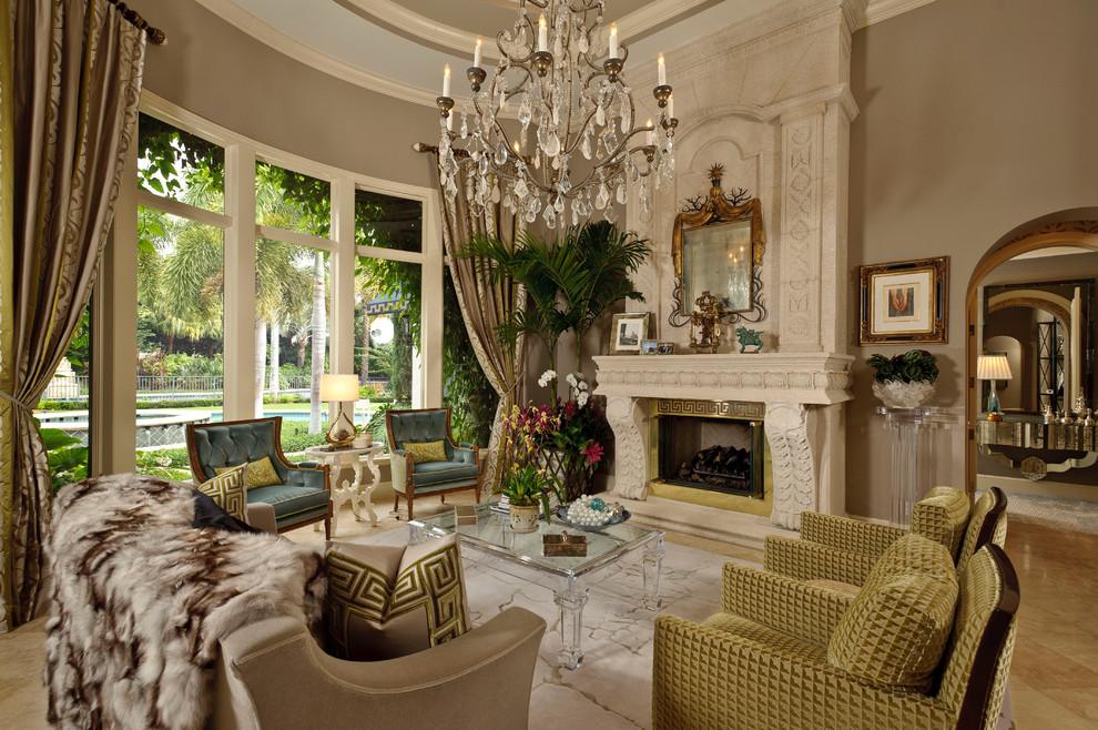 غرفة جلوس ملكية 7 تصاميم غرف جلوس مبهرة تليق بالقصور الملكية