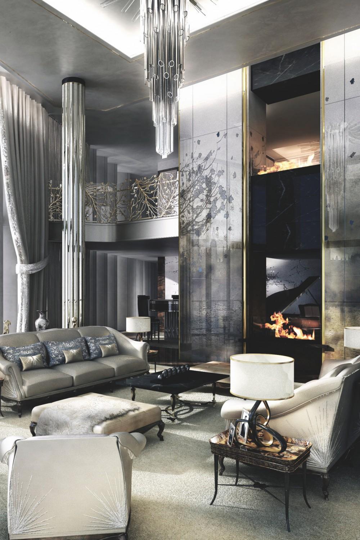 غرفة جلوس ملكية 9 1000x1500 تصاميم غرف جلوس مبهرة تليق بالقصور الملكية