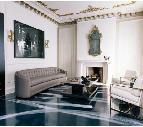 غرفة جلوس مودرن بتفاصيل كلاسيكية 1'
