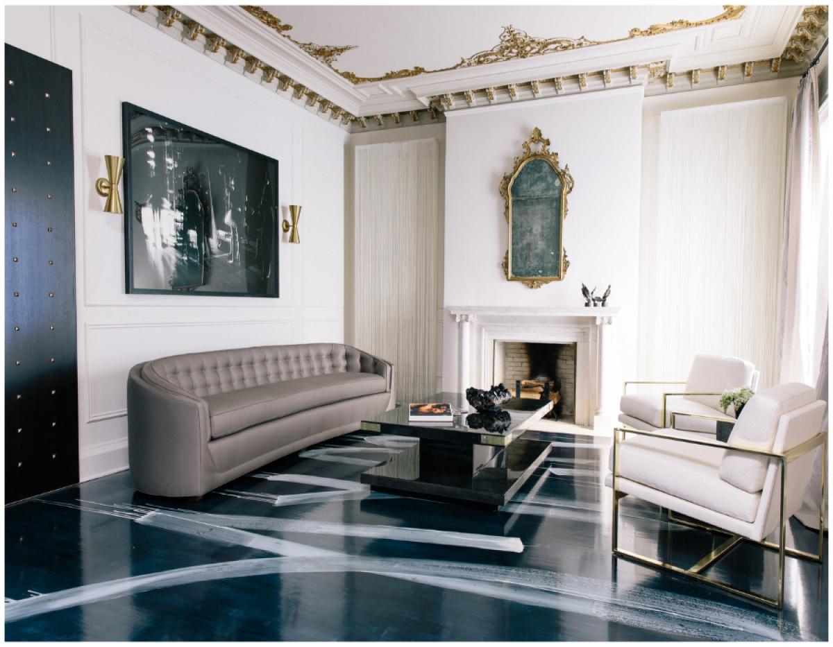 غرفة جلوس مودرن بتفاصيل كلاسيكية 1 غرف معيشة أنيقة تجمع عصرية المودرن وفخامة الكلاسيك