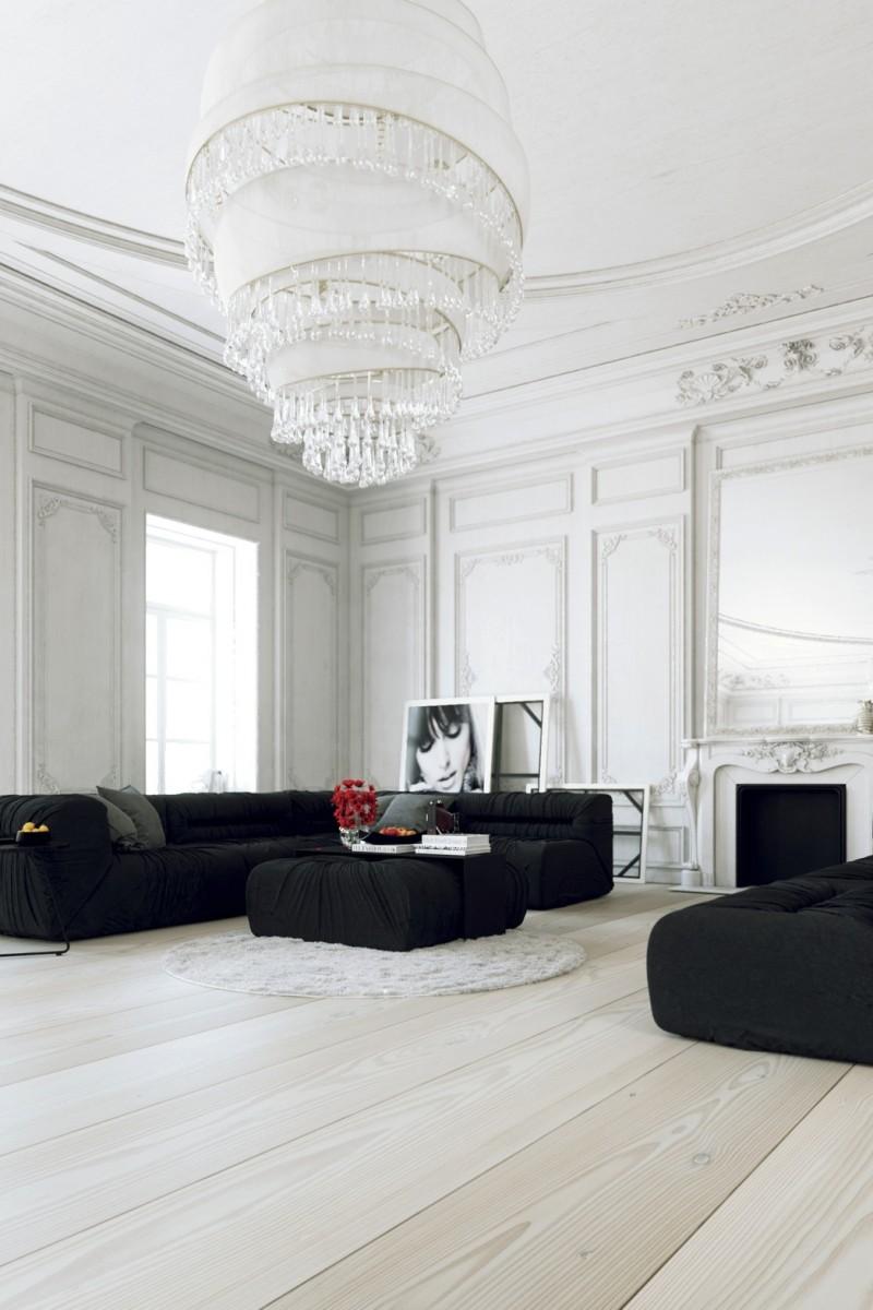 غرفة جلوس مودرن بتفاصيل كلاسيكية 11 غرف معيشة أنيقة تجمع عصرية المودرن وفخامة الكلاسيك